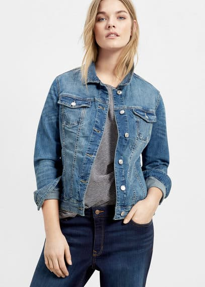 Medium denim jacket | VIOLETA BY MANGO
