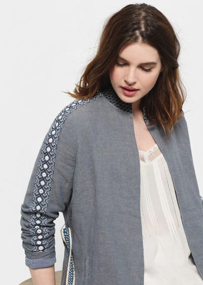 Embroidery bead jacket | VIOLETA BY MANGO