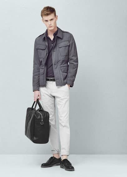 Gewatteerd field jacket | MANGO MAN