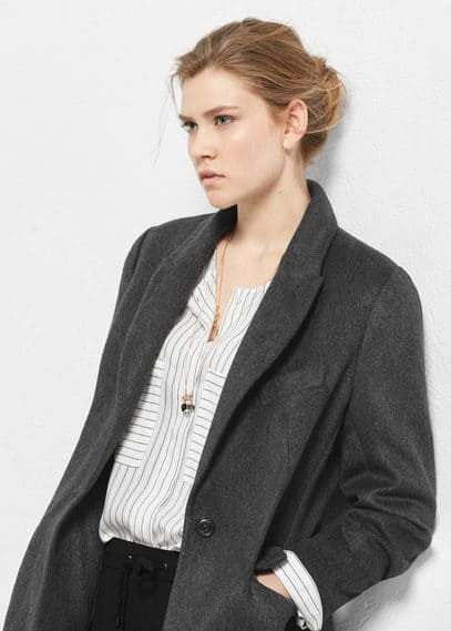 Pockets wool coat | VIOLETA BY MANGO