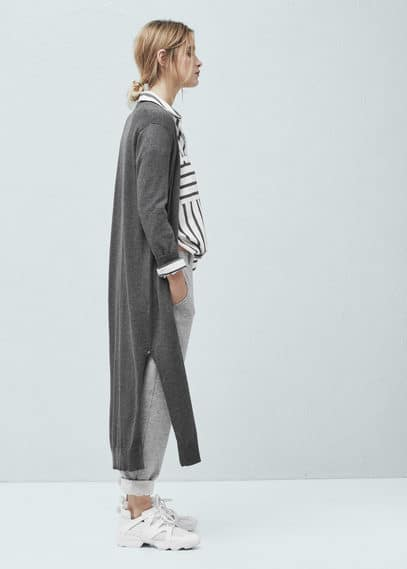 Cardigan long coton | MANGO