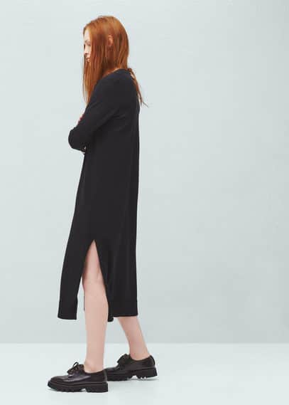 Long cotton cardigan | MANGO