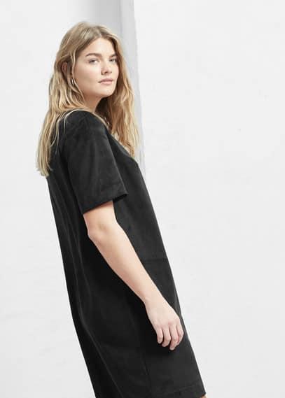 Vestido textura | VIOLETA BY MANGO