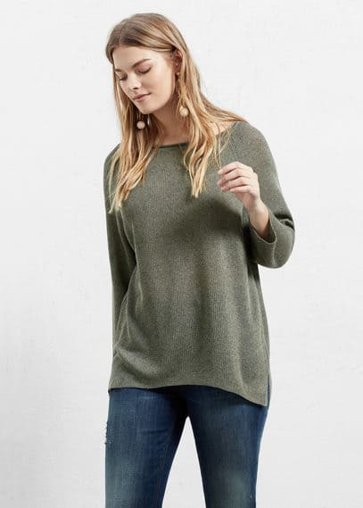 Pullover mit metallic-finish | VIOLETA BY MANGO