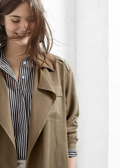 Fließender trench | VIOLETA BY MANGO