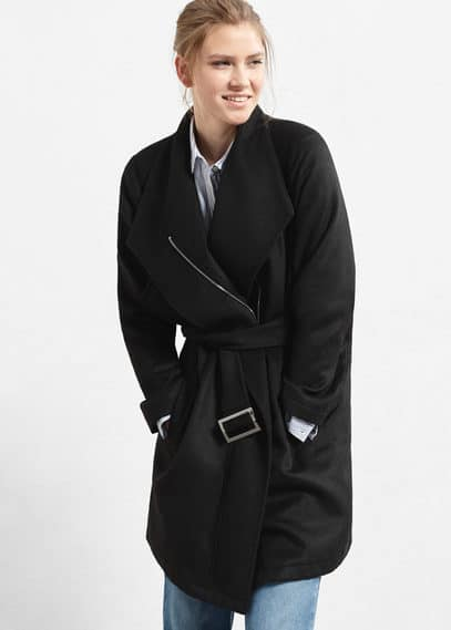 Belt wool coat | VIOLETA BY MANGO