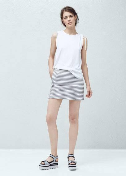 Linen-blend t-shirt | MANGO
