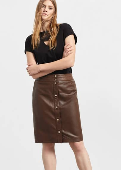 Leather skirt | VIOLETA BY MANGO