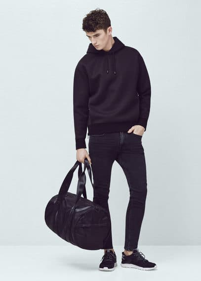 Skinny black jude jeans | MANGO MAN