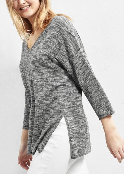 Flecked cotton-blend sweater | VIOLETA BY MANGO