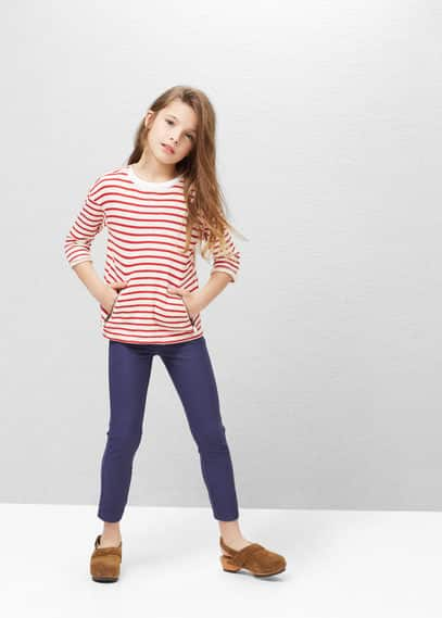 Slim-fit cotton-blend trousers | MANGO KIDS