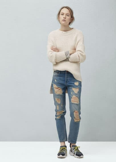 Long knit sweater | MANGO
