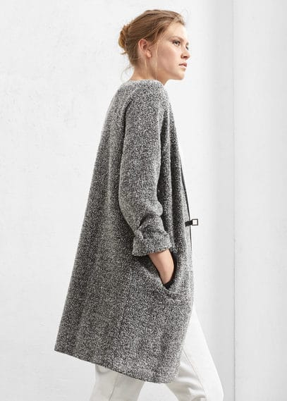 Buckle wool coat | VIOLETA BY MANGO