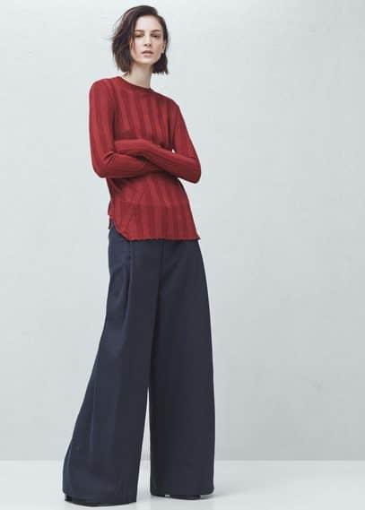 Premium - ribbed fine-knit sweater | MANGO