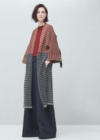 Premium - cotton jacquard cardigan | MANGO