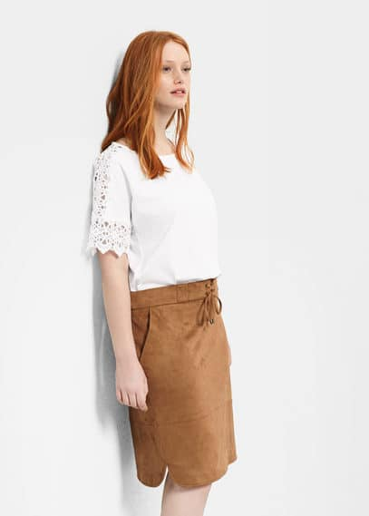 Textured skirt | VIOLETA BY MANGO