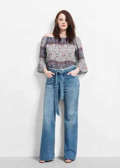 Flared cintia jeans | VIOLETA BY MANGO