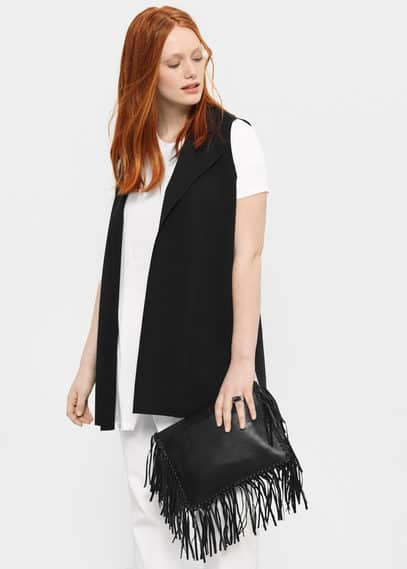 Straight-cut boyfriend gilet | VIOLETA BY MANGO