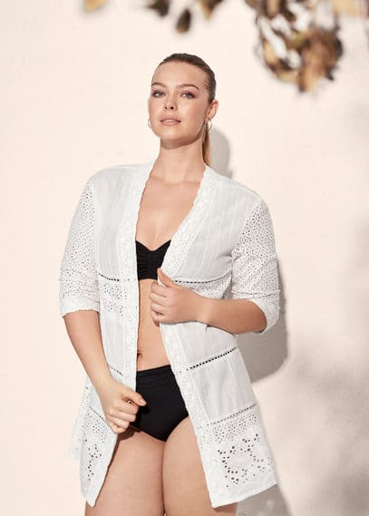 Openwork cotton jacket | VIOLETA BY MANGO