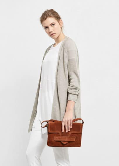 Long linen cardigan | VIOLETA BY MANGO