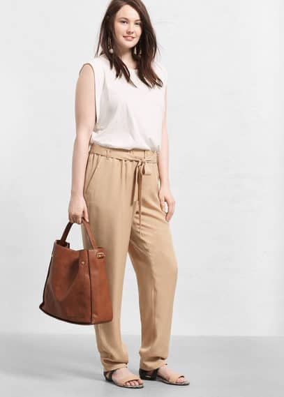 Baggy soft trousers | VIOLETA BY MANGO