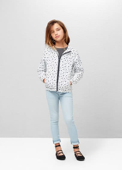Water-repellent hooded jacket | MANGO KIDS