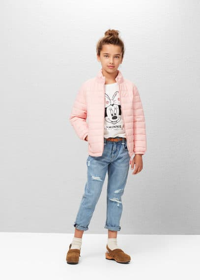 Quilted hooded coat | MANGO KIDS