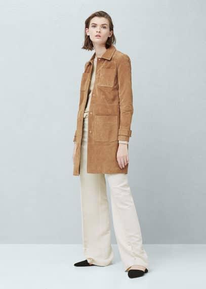 Velúr kabát | MANGO
