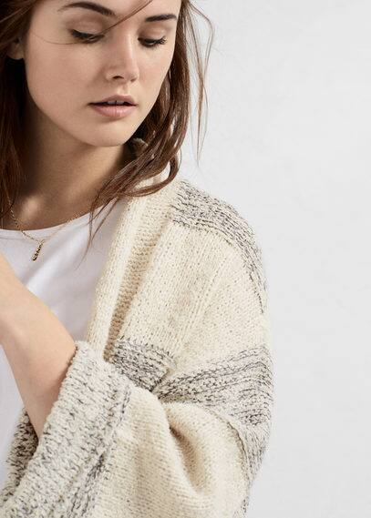 Textured cotton cardigan | VIOLETA BY MANGO