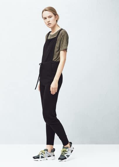 Cotton long jumpsuit   MANGO