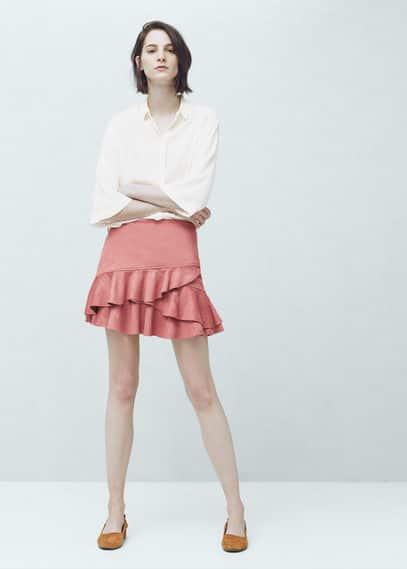 Ruffled skirt | MANGO