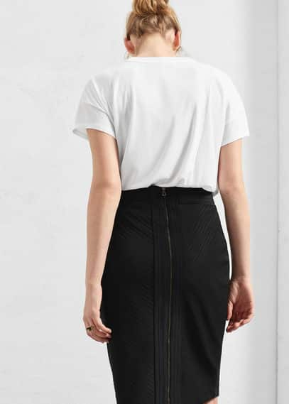 Textured pencil skirt | VIOLETA BY MANGO