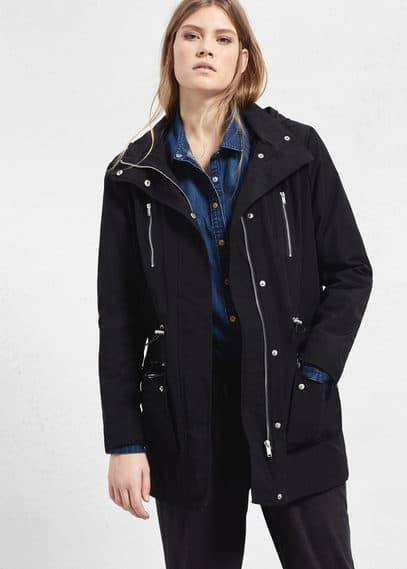 Hooded water-repellent parka | VIOLETA BY MANGO