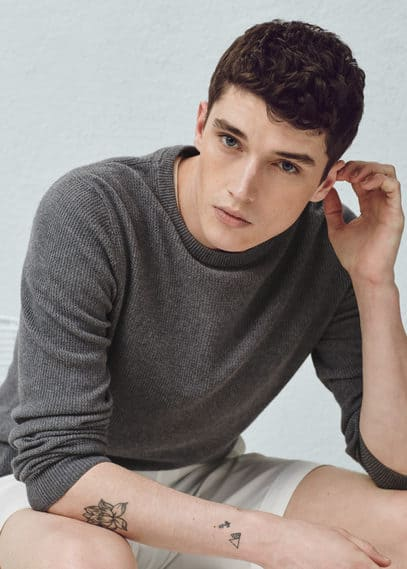 Camisola algodão caxemira | MANGO MAN