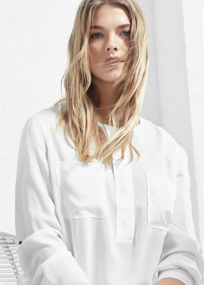 Patch pocket blouse | VIOLETA BY MANGO