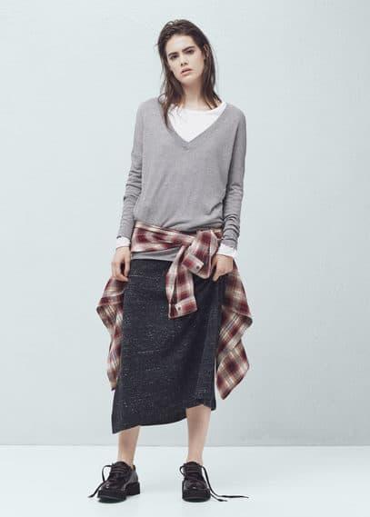 Shirt aus feinstrick | MANGO