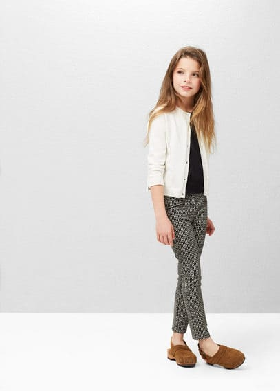 Cotton-blend cardigan | MANGO KIDS