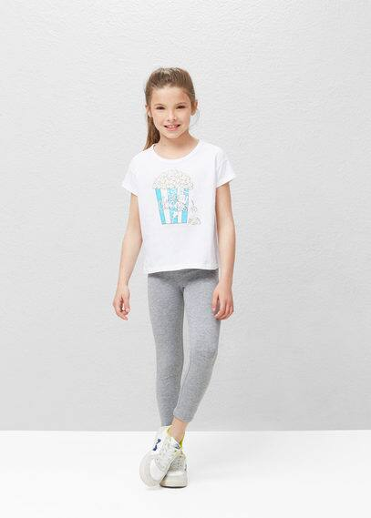Essential cotton leggings | MANGO KIDS