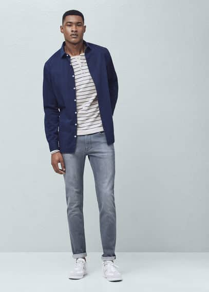 Jean tim slim-fit gris | MANGO MAN