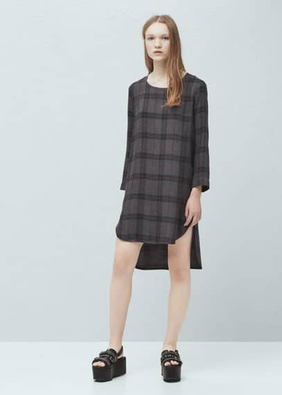 Check shift dress | MANGO