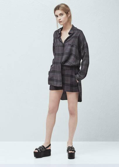 Check cotton shorts | MANGO