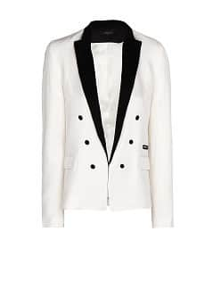 Blazer mit Satin-Revers