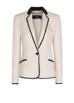 Zigzag texture two-tone blazer