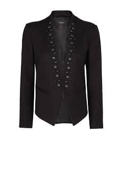 Faceted embellishment jacket