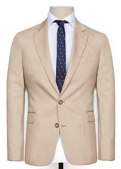 LINEN COTTON-BLEND BLAZER