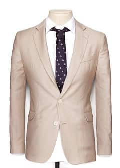 LINEN-BLEND TAILORED BLAZER