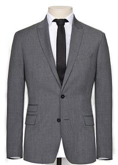 PURE WOOL-BLEND SUIT BLAZER