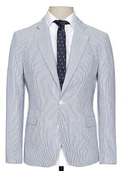 STRIPED COTTON BLAZER
