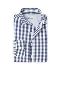Slim-fit gingham geruit overhemd