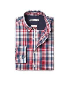 Plaid slim-fit shirt